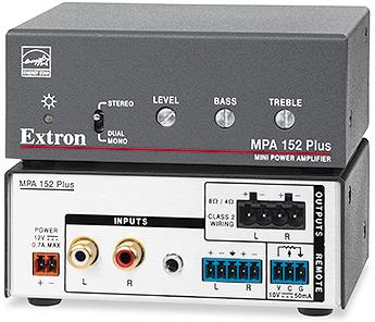 MPA 152 Plus - Amplificateur stéréo - 15 W par canal - 30 W rms:  2 x 15 W @ 4 ohms, ou 2 x 8 W @ 8 ohms  *alim externe incluse