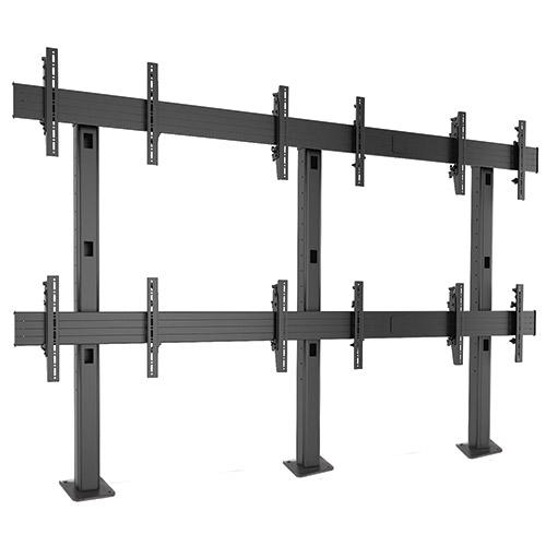 Fusion 3x2 Bolt-Down Video Wall - Support pour mur d´écrans - Configuration 3 écrans x 2 lignes pour 40 à 47 ``