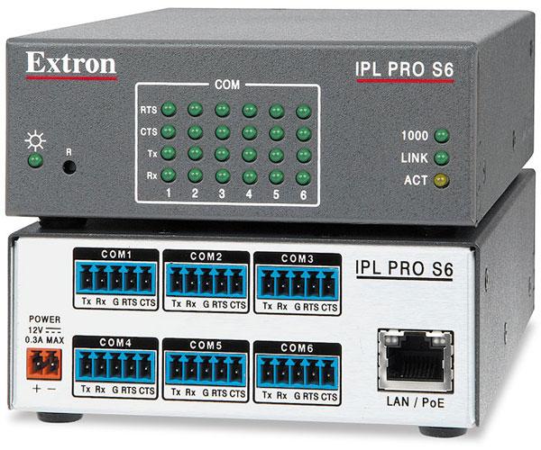 EXTRON  Extron IPL Pro S6 - Processeur de contrôle IP Link Pro - 6 ports série