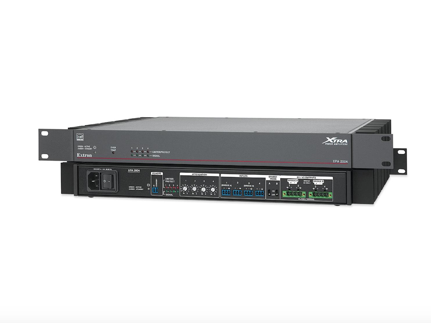 EXTRON  Extron XPA 2004 - Amplificateur à quatre canaux - 200W par canal à 4 Ohms, 100W par canal à 8 Ohms