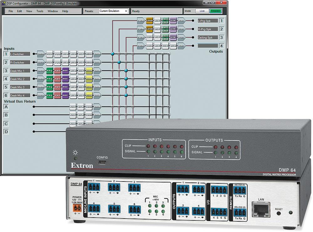 DMP 64 - Matrice 6x4 à processeur numérique ProDSP