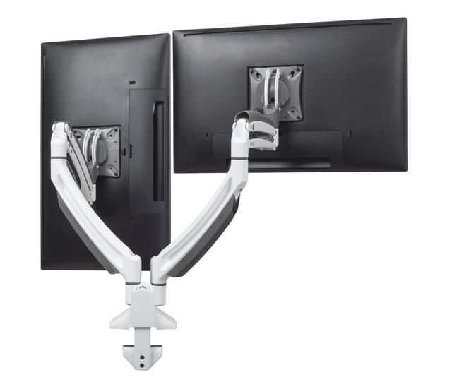 Kontour K1D Dynamic Desk Clamp Mount, 2 Monitors 10 - 30`` - VESA 75 / 100 - Black