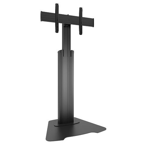 Pied de sol fixe - H113 à 164 cm - pour 40-80`` - Noir - VESA 200/800x400