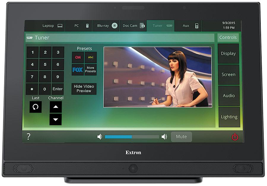 EXTRON  Extron TLP Pro 1520TG - Écran tactile de contrôle TouchLink Pro 15´´ à poser sur table - Noir