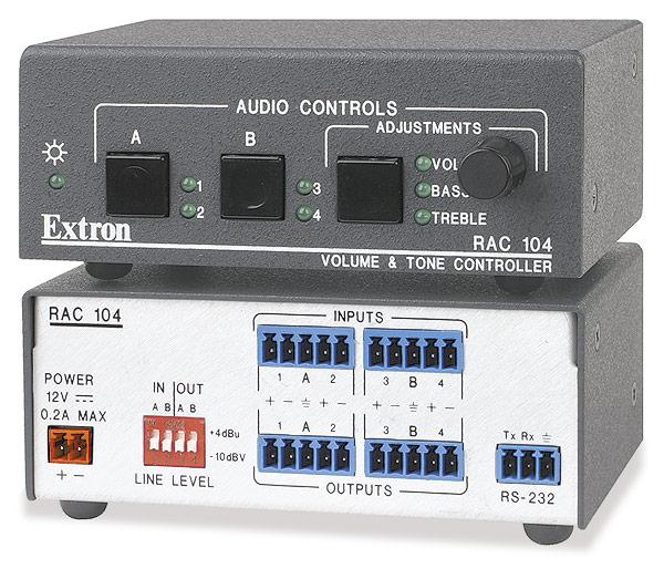 EXTRON  Extron RAC 104 - Contrôleur audio volume et son à distance à 4 canaux