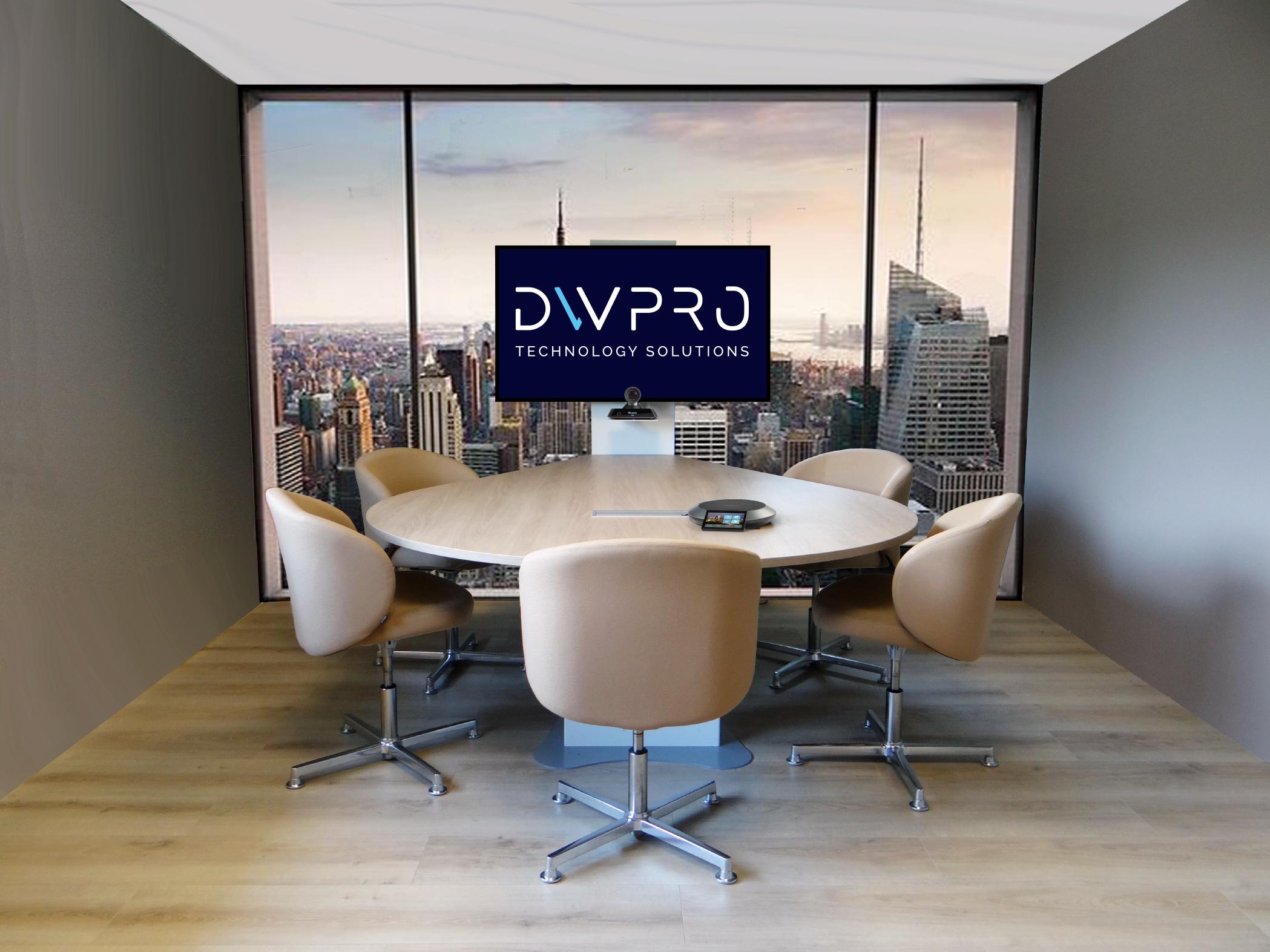 DWPRO DWPRO Stilla - Table de Réunion et de Visioconférence 4 à 6 personnes
