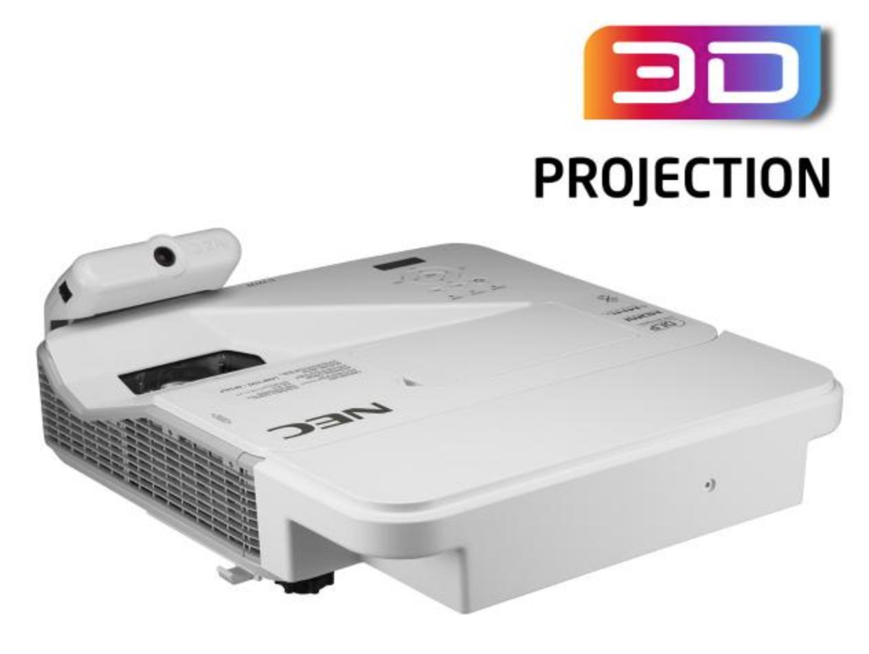 (Multi-Touch) - Projecteur DLP - 3200 ANSI lumens - 1920 x 1080 - écran large - HD 1080p - Objectif ultra court