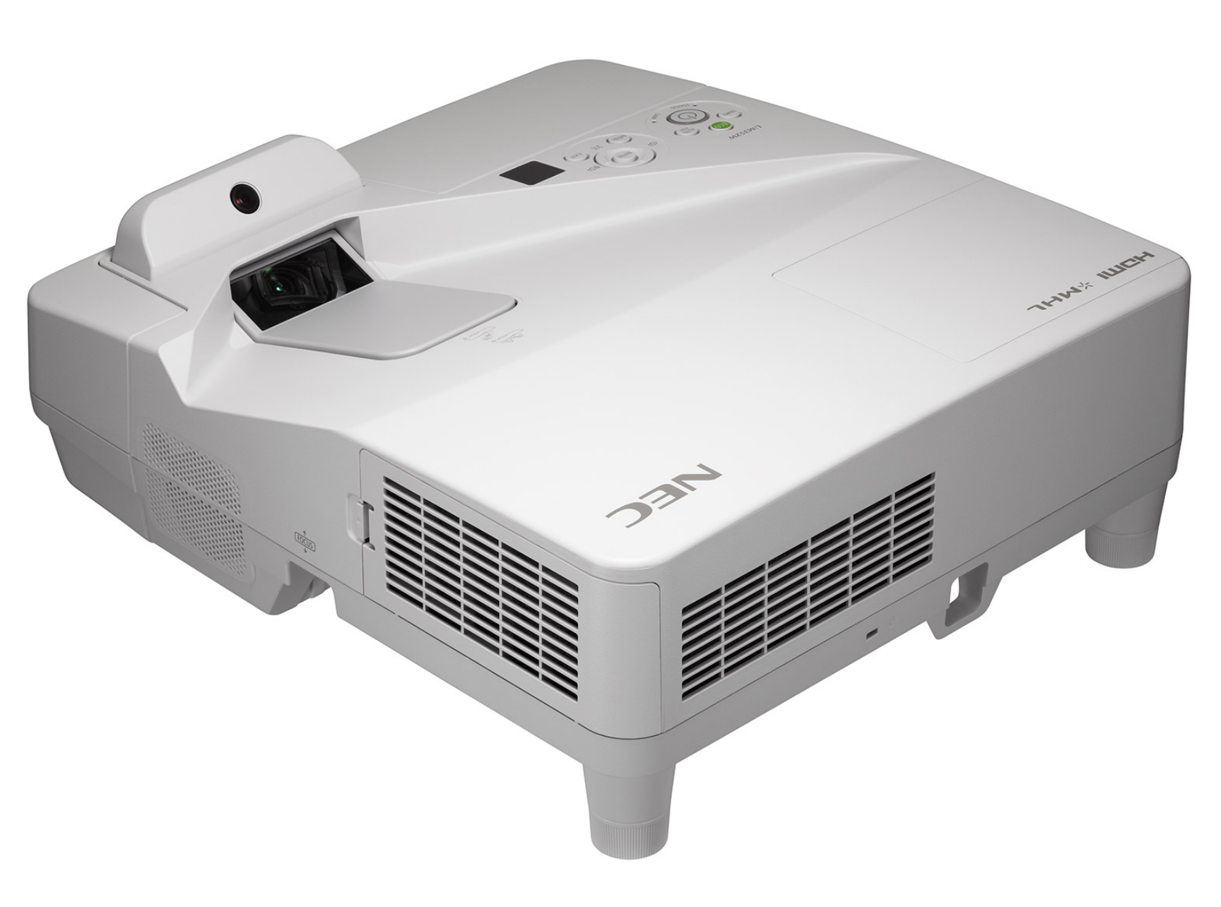 NEC UM352Wi (Multi-Touch) - Projecteur LCD - 3500 ANSI lumens - 1280 x 800 - 16:10 - HD 720p - Objectif ultra court - LAN