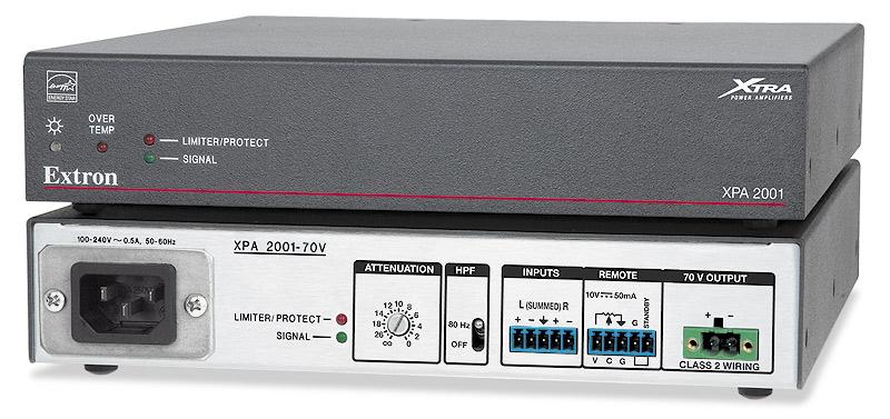 EXTRON  Extron XPA 2001 - Amplificateur mono  70 V - 200W - Existe aussi en version 100 V