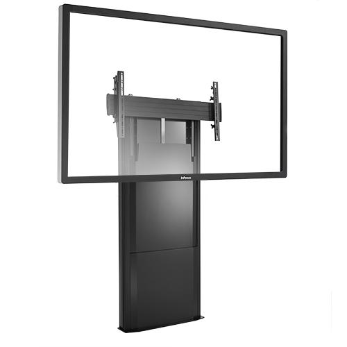Dynamic Height Adjustable - Support colonne de sol, fixe mode paysage - VESA 200x200 à 800x400 - Charge maxi de 56 à 79 kg - Noir