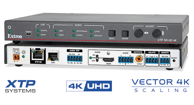 EXTRON  Extron XTP SR HD 4K - Récepteur avec Scaler