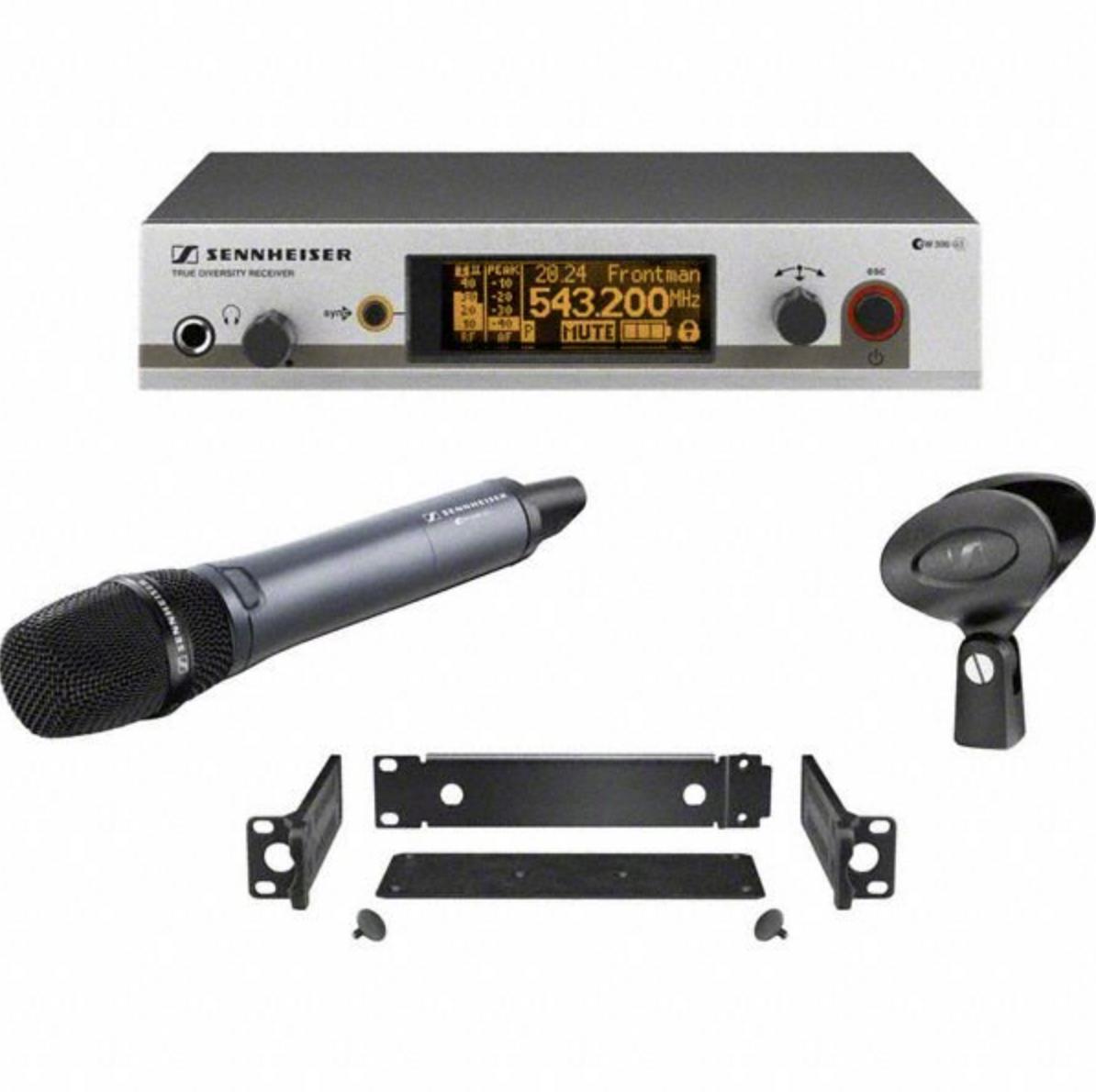 ew 335 G3 A-X - Ensemble pour le chant: EM 300, SKM 300-835 (dynamique, cardioïde), MZQ 1 et GA 3, 516-558 MHz