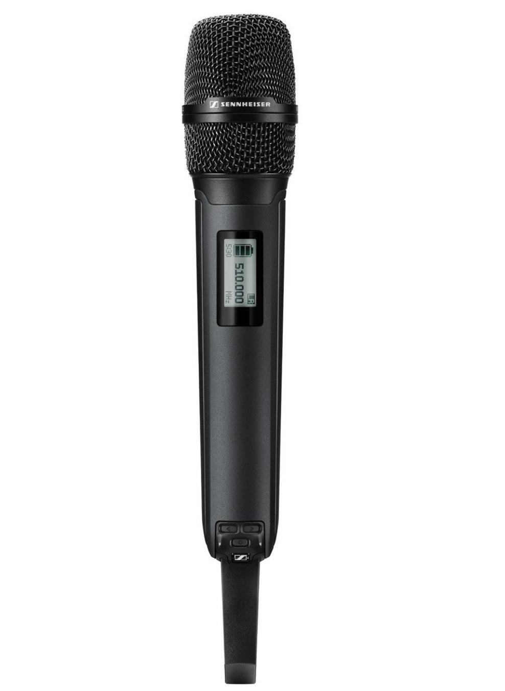 SKM 6000 BK A1-A4 - Emetteur manuel, numérique, mode LR, AES 256, noir, avec pince micro, 470-558 MHz