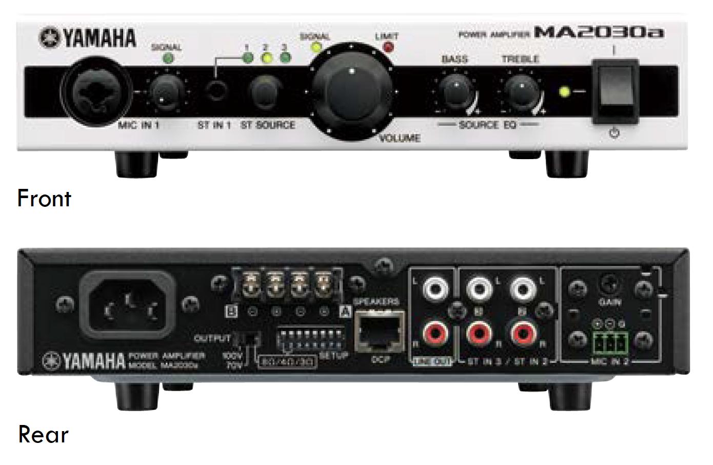 YAMAHA Yamaha MA 2030a - Mixeur / Amplificateur à basse et haute impédence à deux canaux