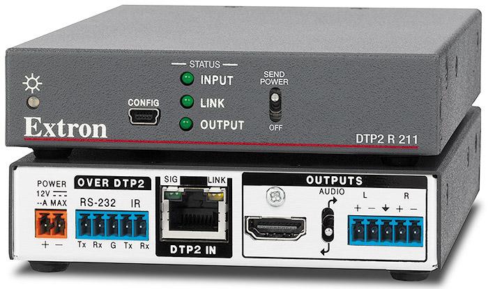 DTP2 R 211 - Récepteur DTP2 HDMI 4K/60 avec désembeddage audio - 100 m (330´)