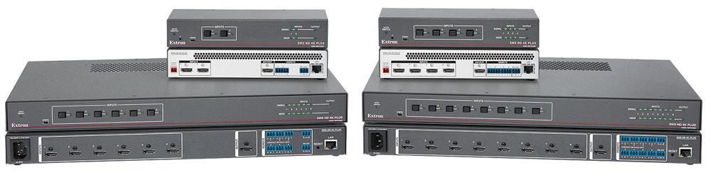 EXTRON  Extron gamme SW HD 4K Plus - Sélecteurs HDMI 4K/60 avec supervision et contrôle Ethernet