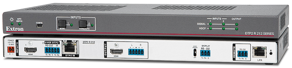DTP2 R 212 - Récepteur/sélecteur DTP2 HDMI 4K/60 avec désembeddage audio - 100 m