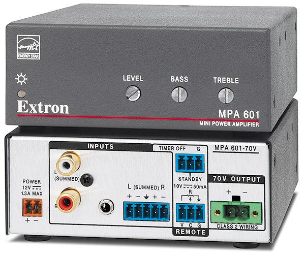 EXTRON  Extron MPA 601 - Amplificateur mono 70 V - 60 W - Existe aussi en version 100 V