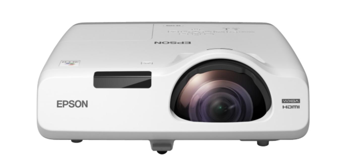 3LCD - 3400 ANSI Lumens - WXGA (1280x800) - 16:10 - HD - 16000:1 - LAN - courte focale 3.7 kg