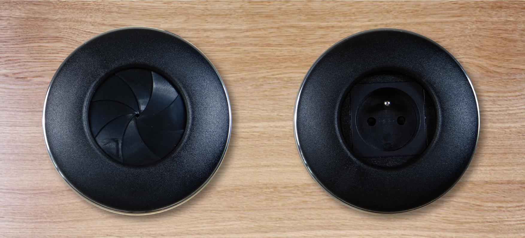 DIGITEL Digitel Iris - Boitier de connexion 1x 220V - Noir