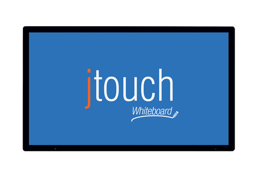 JTOUCH - Moniteur LED 65´´ tacile capacitif 10T Full HD 1080p, 350 cd/m², anti-reflets, HP 2x10W, LightCast, VESA 400x400, 67.3 kg - K12 ONLY