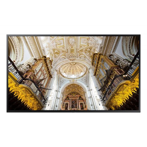 Moniteur LED 49`` - 350 cd/m² - UHD 4K 3840x2160 (16:9) - 16h/7j - HP 2x10W - VESA 200x200 - 13.5 kg - Player MagicInfo SSSP6 Tizen 4.0 embarqué