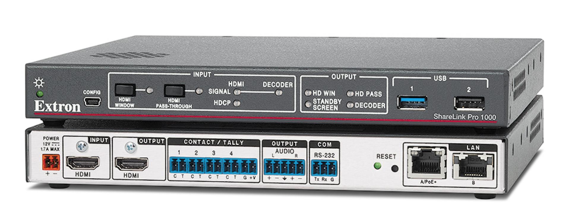 EXTRON  Extron ShareLink Pro 1000 - Passerelle de travail collaboratif câblée et sans fil