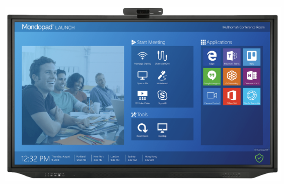 55`` Mondopad Launch, 4K Touch Display, 10pt, AGAF, i5 Windows 10 PC, 4K Camera, Keyboard, Front Facing Speakers, Quicklaunch shell, Montage Casting, Whiteboard, Total Touch
