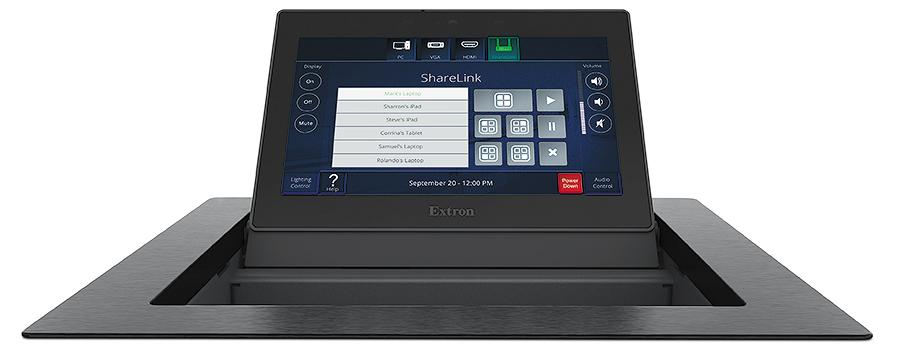 TLP Pro 725C - Écran tactile TouchLink Pro 7`` en Cable Cubby Series/2 - Noir - Sans module d´alimentation secteur