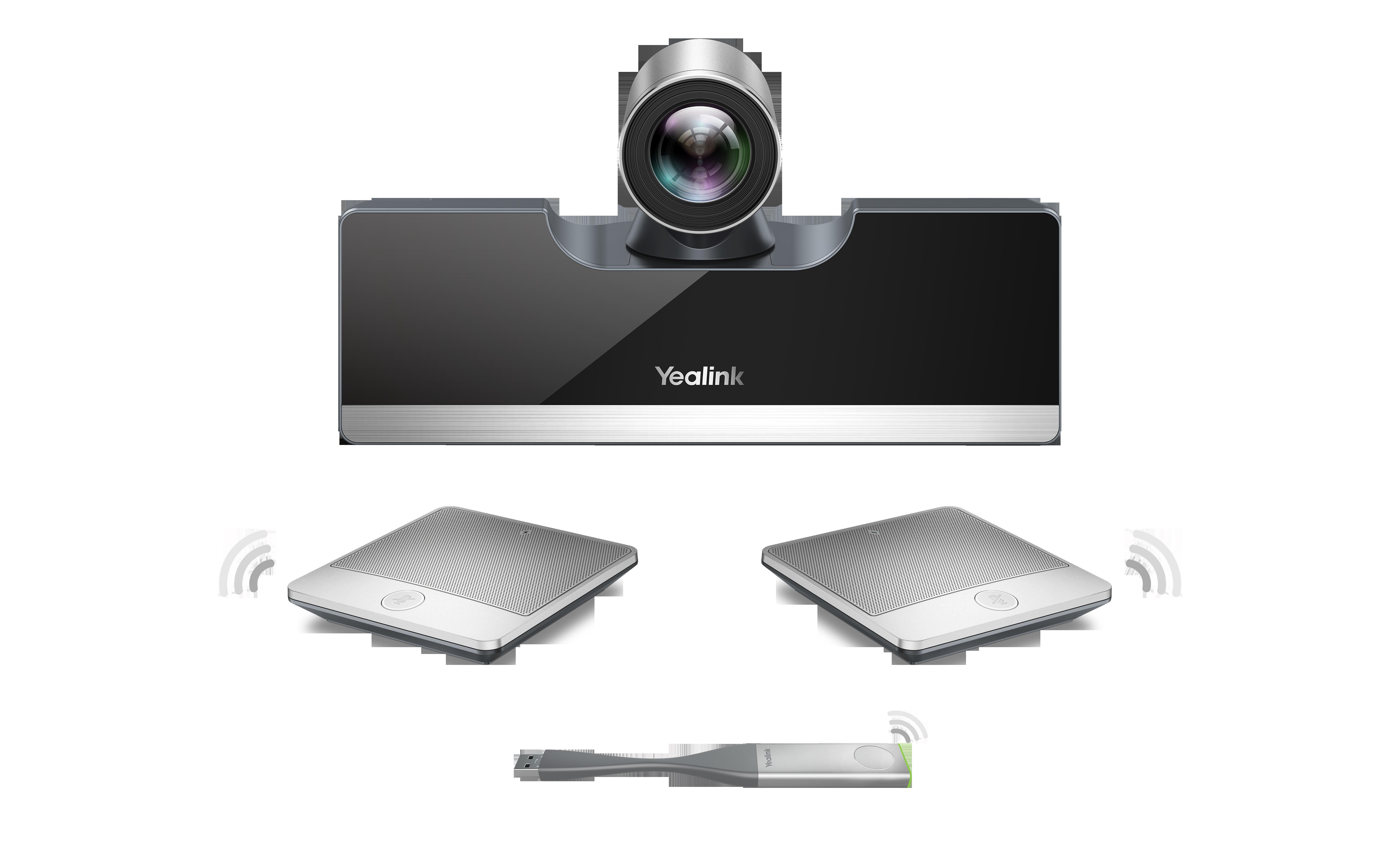 YEALINK Yealink VC500 - codec de visioconférence avec 2 Micopods sans fil et pod de présentation sans fil WPP20