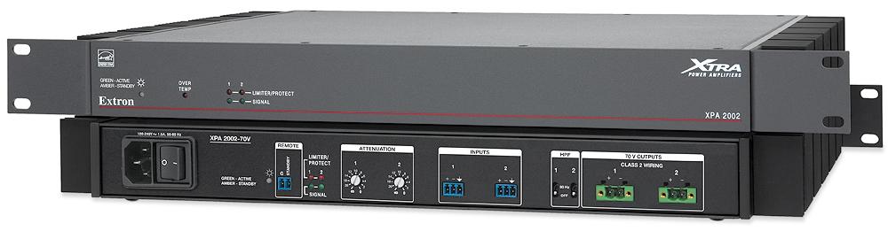 EXTRON  Extron XPA 2002 - Amplificateur à deux canaux 70 V - 200W par canal - Existe aussi en version 100 V