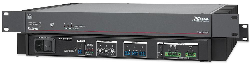 EXTRON  Extron XPA 2003 C - Amplificateur combiné à trois canaux - 200W par canal - Disponible en 70 V ou 100 V