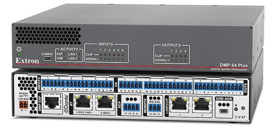 DMP 64 Plus - Matrice 6x4 à processeur numérique ProDSP avec l´AEC