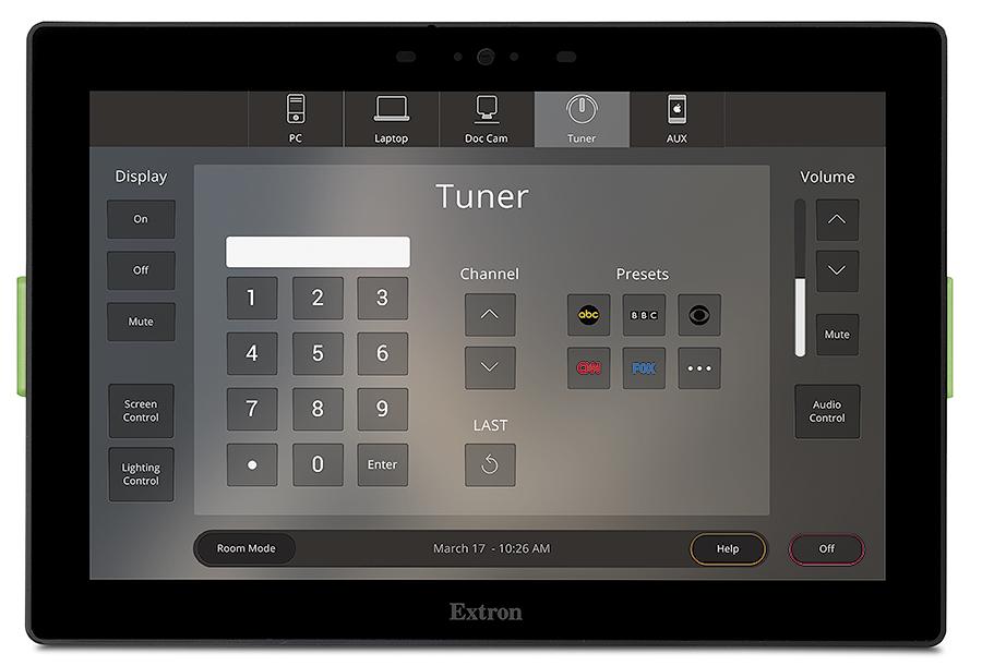 TLC Pro 1026M - Système de contrôle TouchLink Pro 10`` mural - Noir - Mural