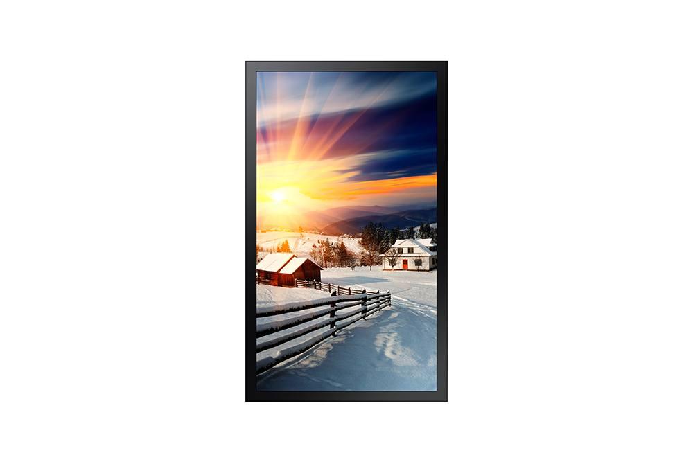 Moniteur LED 75´´ extérieur, IP56, IK10 - 2500 cd/m² - Full HD 1080p - 5000:1 - 24h/7j - 142 kg - MagicInfo Quadcore SSSP4 sous Tizen 2.4 embarqué