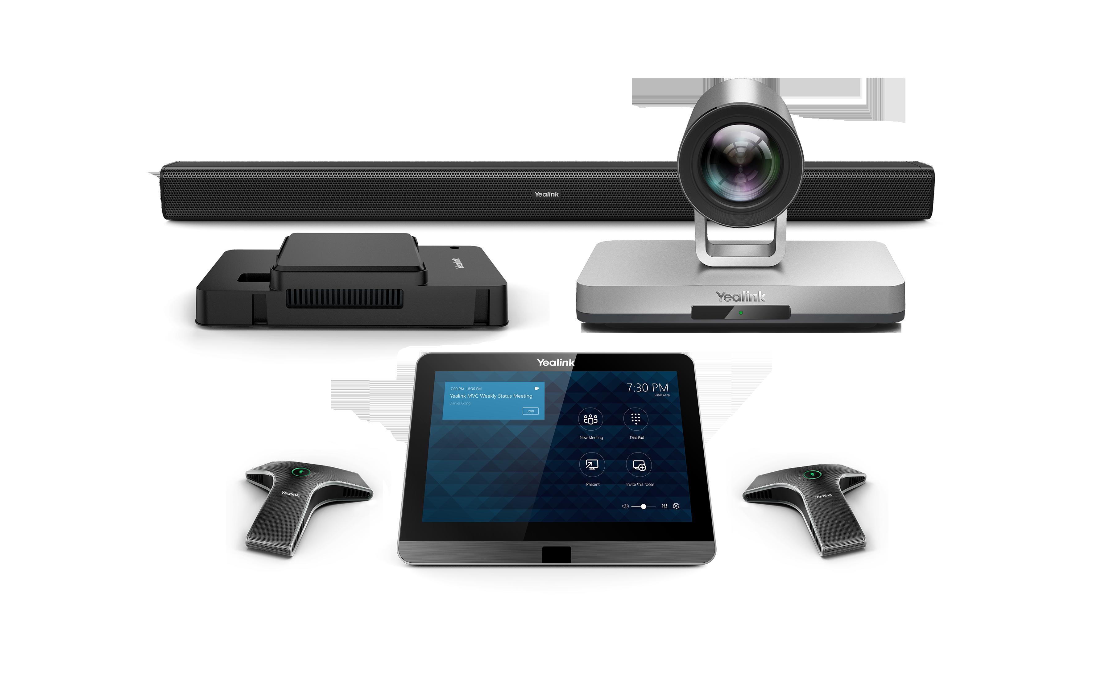Yealink MVC800-Wired - Système de visioconférence pour moyennes à grandes salles - certifié Microsoft Teams