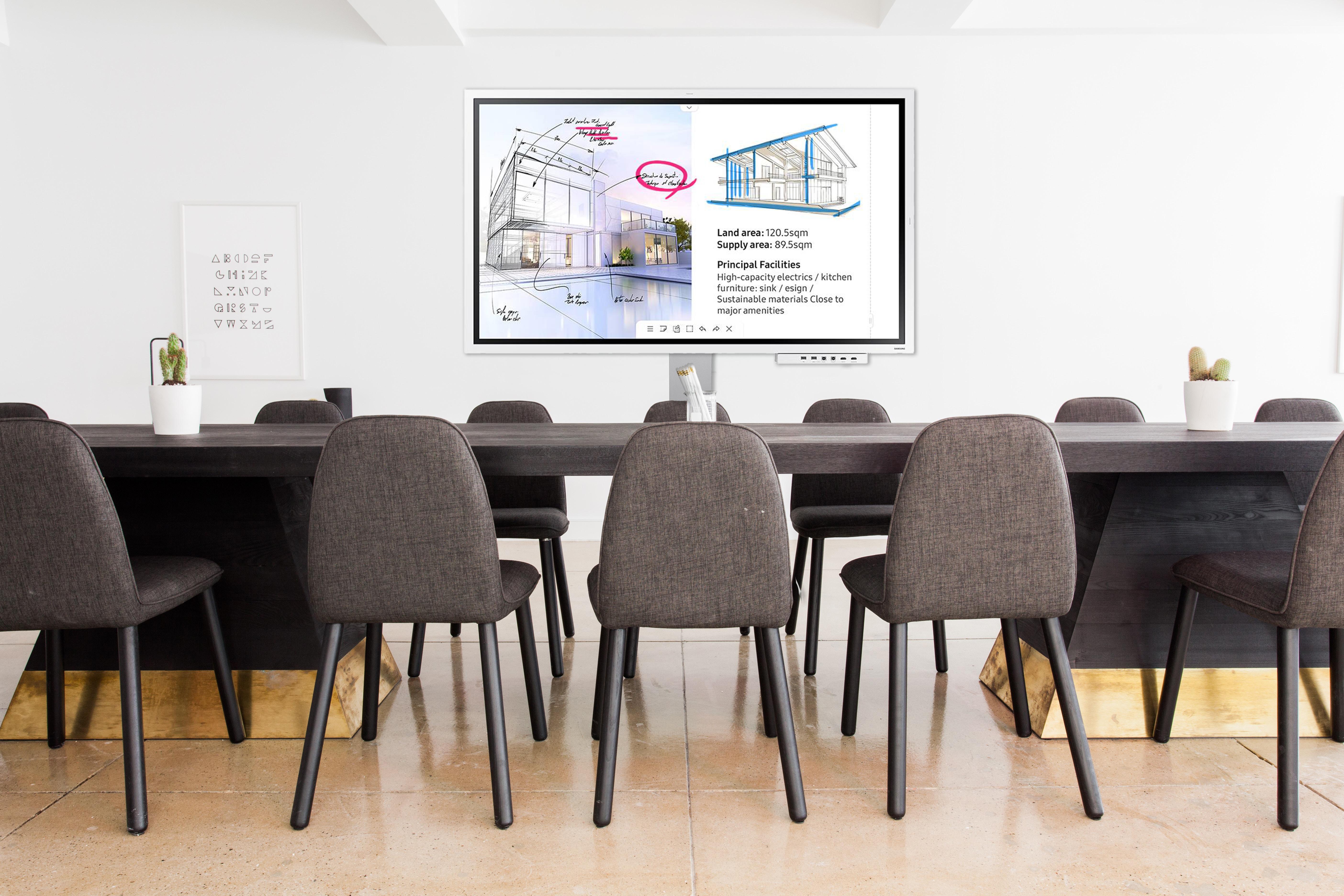 SAMSUNG Bundle Samsung Flip - Meetingboard digital tactile 65`` avec colonne mobile et extension de connectivité