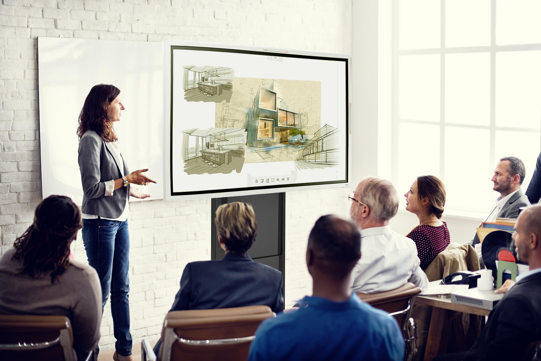 SAMSUNG Bundle Samsung Flip - Meetingboard digital tactile 65`` avec colonne mobile ajustable électriquement et extension de connectivité