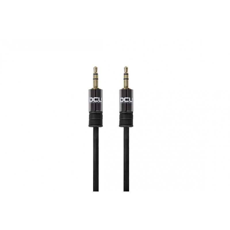 DCU TECNOLOGIC DCU Technologic Câble Audio Jack 3.5 stéréo à Jack 3.5 stéréo Mâle-Mâle - Noir, Orange ou Vert