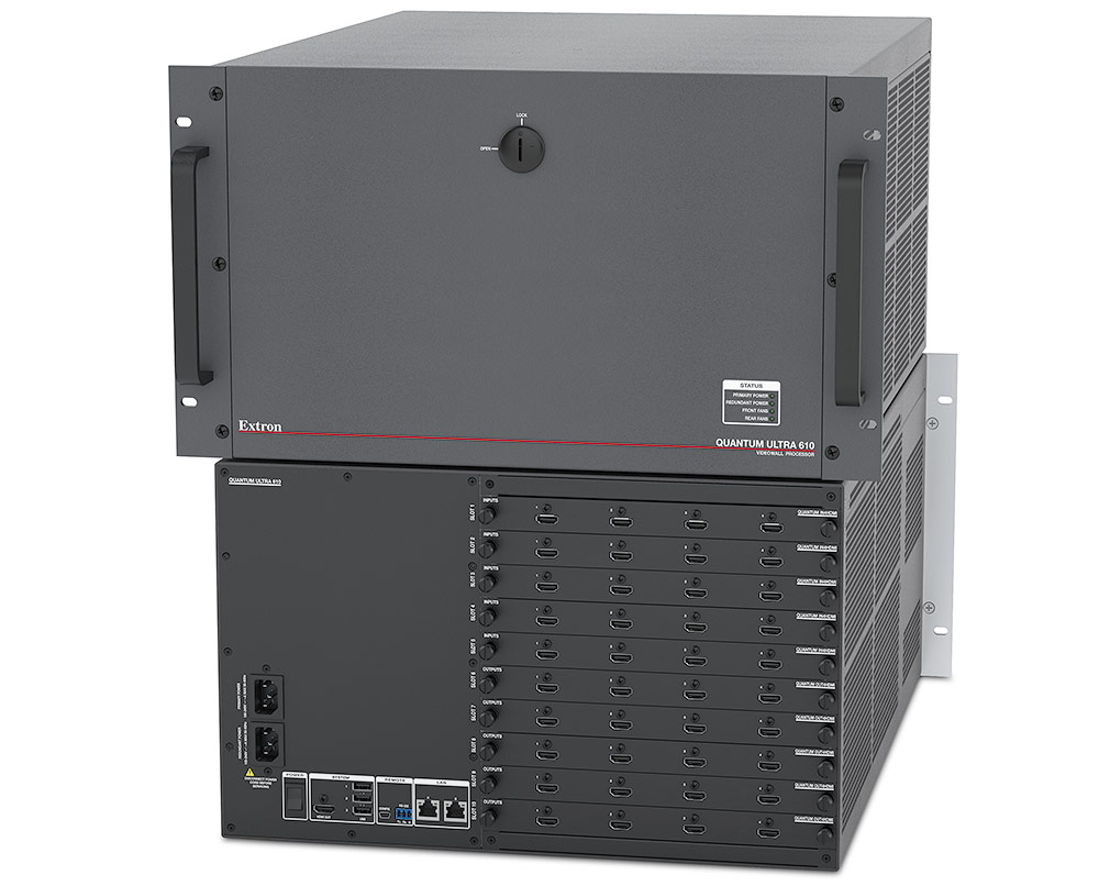 Extron Quantum Ultra - Processeur 4K pour mur d´images avec bus HyperLane - Compatible HDBaseT - Nombre d´entrées et de sorties modulaire