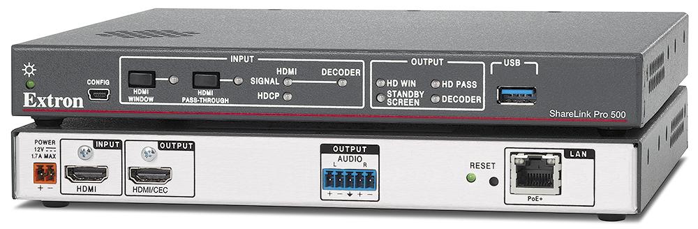 EXTRON  Extron ShareLink Pro 500 - Passerelle de travail collaboratif câblée et sans fil BYOD