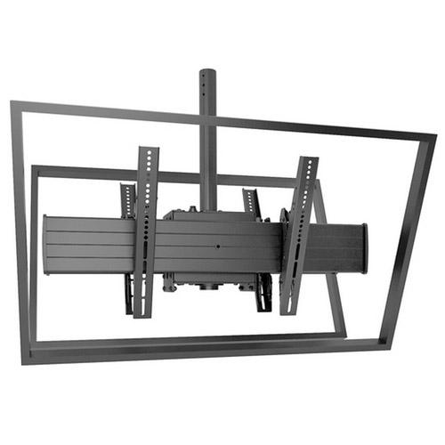 CHIEF Chief XCB1U - Fusion Ceiling Series - Support plafond X-Large à simple colonne mode paysage inclinable pour 2 écrans dos à dos de 55´´ à 100´´