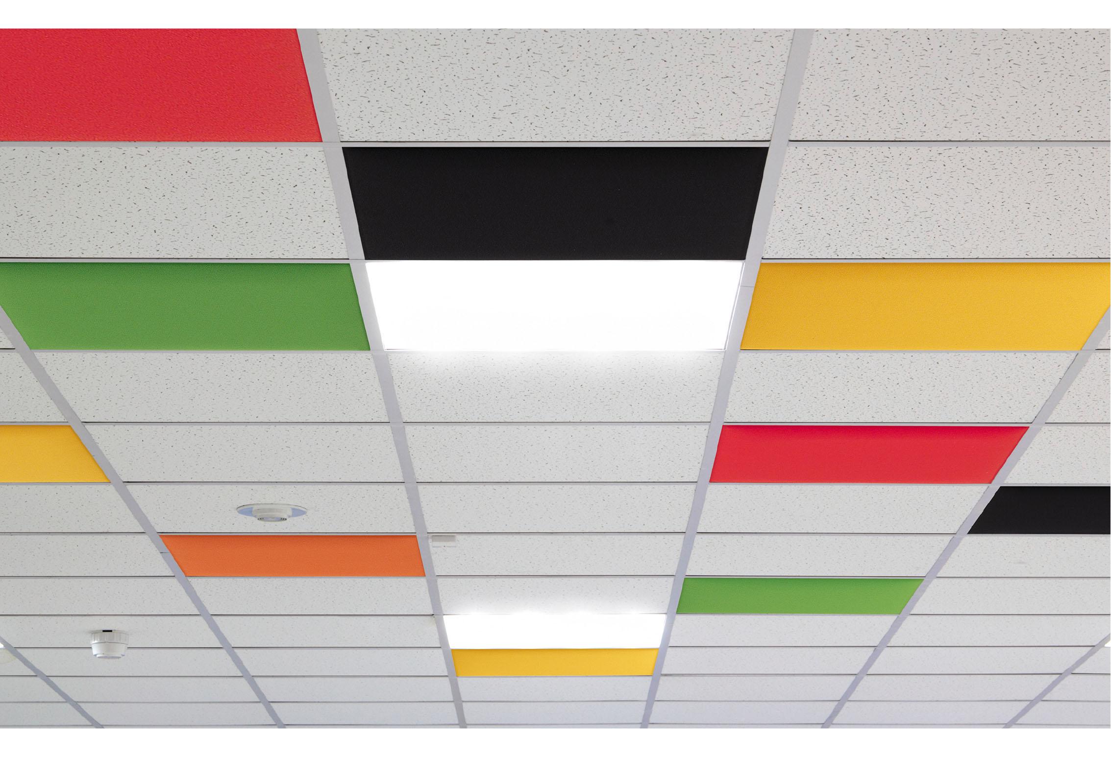 Caimi In - Gamme de panneaux acoustiques plafond - en remplacement de dalles de plafond 59 x 59 x cm ou 59 x 119 cm