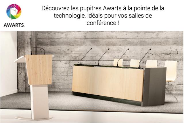 DWPRO-Les pupitres Awarts au design contemporain, idéals pour vos salles de conférence !