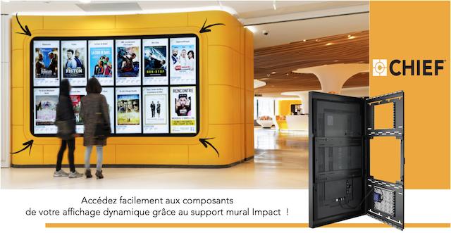 DWPRO - Chief : découvrez le support mural cadre tout-en-un dédié à l´affichage dynamique !