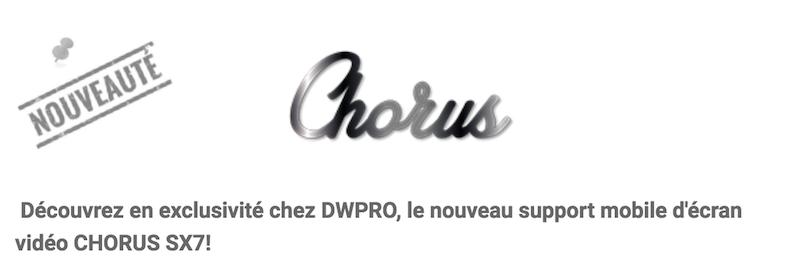 Chorus-Meuble support de visioconférence