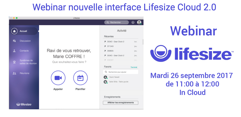 LifeSize-Webinar-Nouvelle interface Client 2.0
