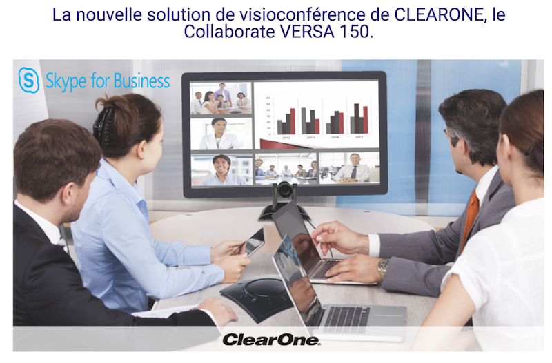 ClearOne-La nouvelle solution de visioconférence, le collaborate VERSA 150