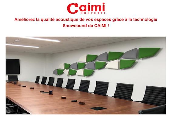 Améliorez la qualité acoustique de vos espaces grâce à la technologie Snowsound de CAIMI !