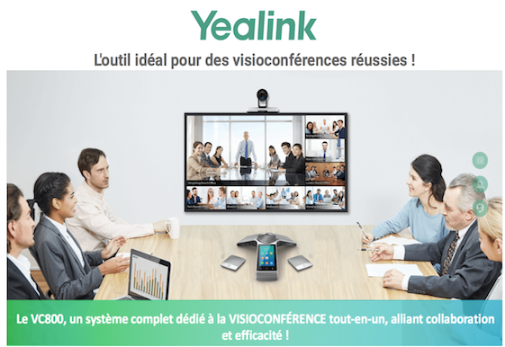 Yealink- VC800 . L´outil idéal pour des visioconférences réussies !